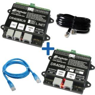 DR4088LN-CS_BOX LocoNet komplette Starter-Kit mit 32 Meldestellen